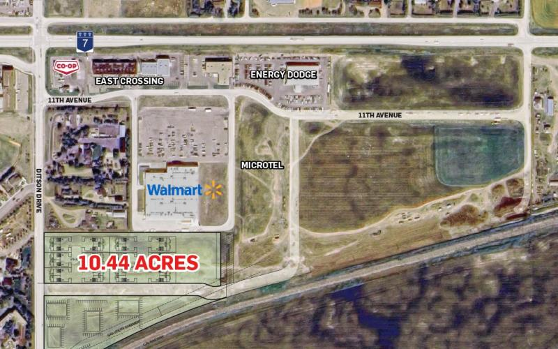 Land For Sale 11th Ave E In 800 11th Ave E, Kindersley, SK, 800 11th Avenue East, development land, retail, residential, zoned R3 (Multi-unit Residential), 10.44 acres