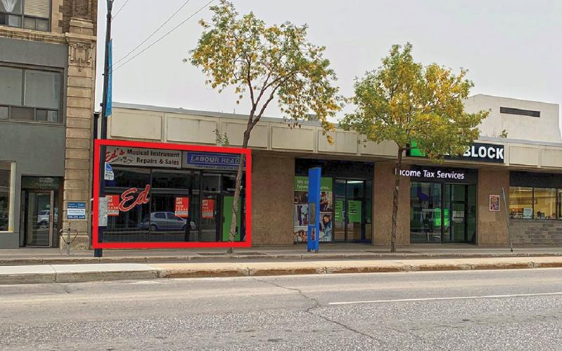 Retail For Lease 2nd Ave N In 202 2nd Ave N, Saskatoon, SK, Retail For Lease - 202 2nd Avenue North, 1750 SF, music store, bus terminal, downtown
