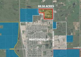Land For Sale Rock Ridge Road, Martensville SK, For Sale, Land, 88.58 acres, future urban development, residential