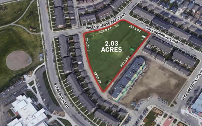 Land For Sale Wilowgrove Cr In 1115 Wilowgrove Cr, Saskatoon, SK, 1115 Willowgrove Crescent, Saskatoon SK, land, for sale, development land, 2.03 acres, multi-family, school, care home, community centre, child care, residential