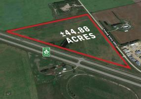 land for lease.  44.88 acres Corman Park, SK, hwy 16, industrial, country residential