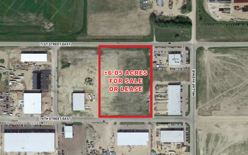Land For Lease 70th St E In 342 70th St E, Saskatoon, SK, build to suit, 342 70th Street East, 6.05 Acres